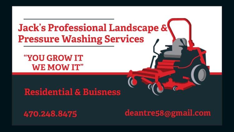 Jacks Professional Landscape and Pressure Washing