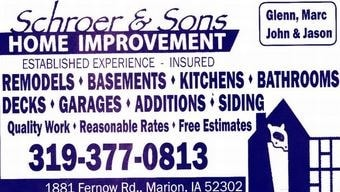 Schroer and Sons Home Improvement