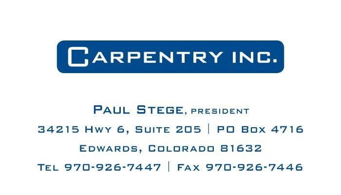 Carpentry, Inc.