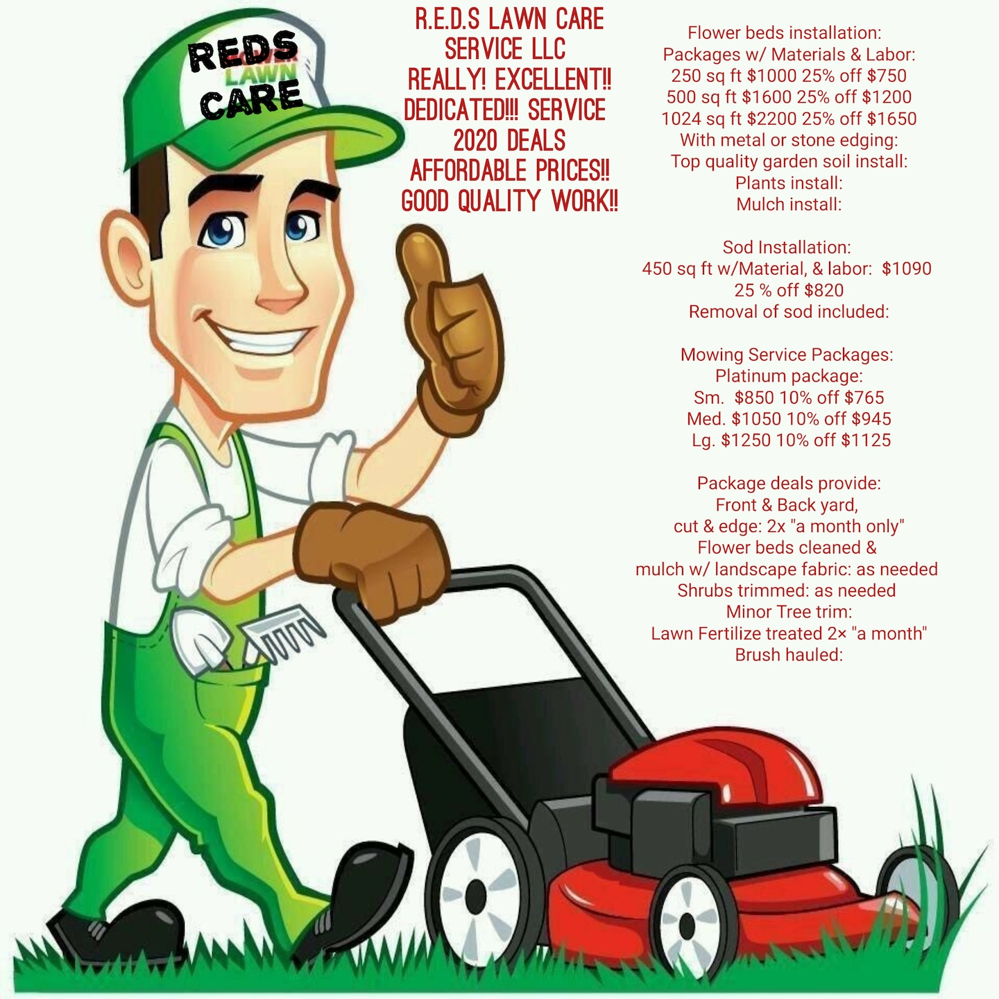 Reds Lawn Care Service
