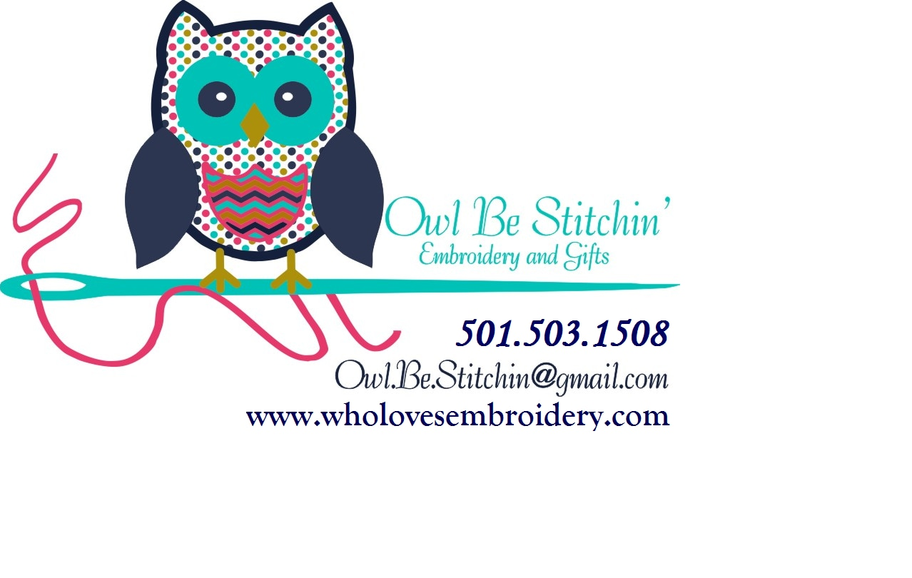 Owl Be Stitchin' Embroidery and Gifts