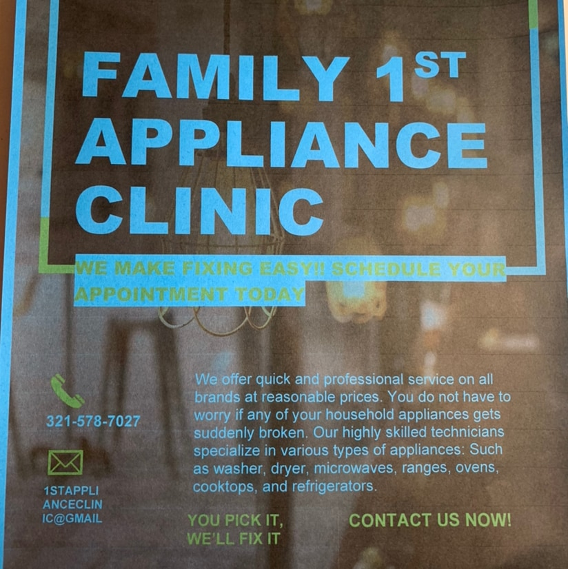 Family 1st Appliance Clinic