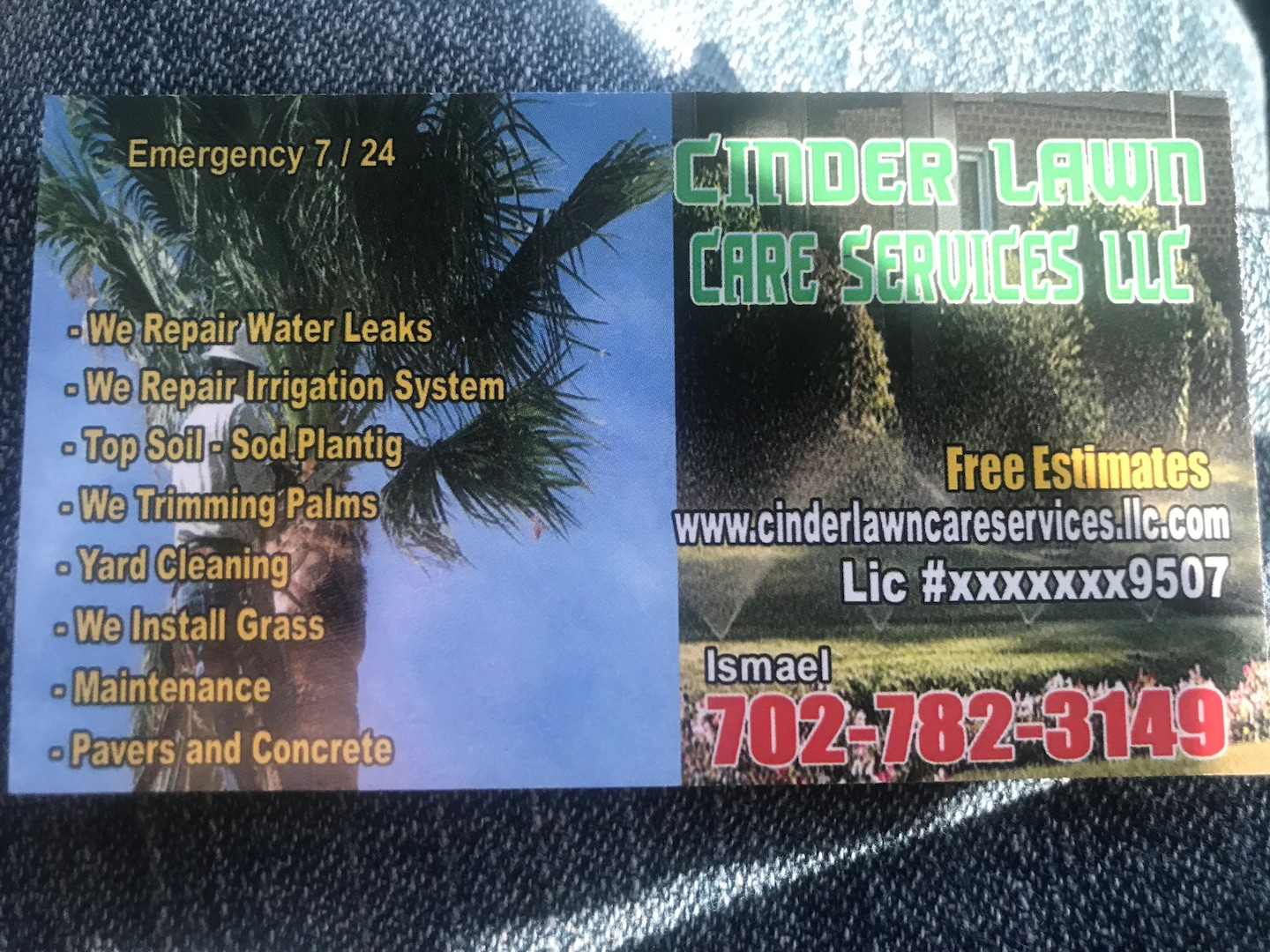 Cinder lawn care services