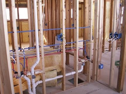 Toilets and sink installation