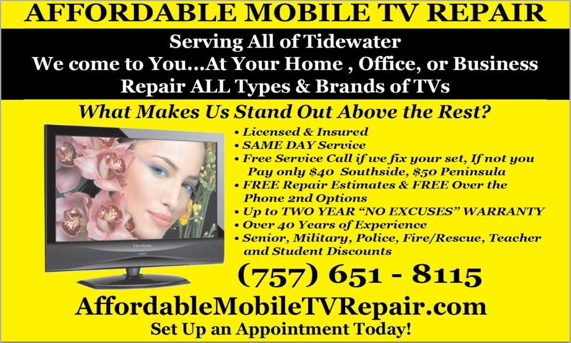 Affordable Mobile TV Repair