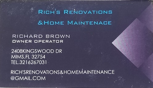 Rich's Renovations &home maintenance