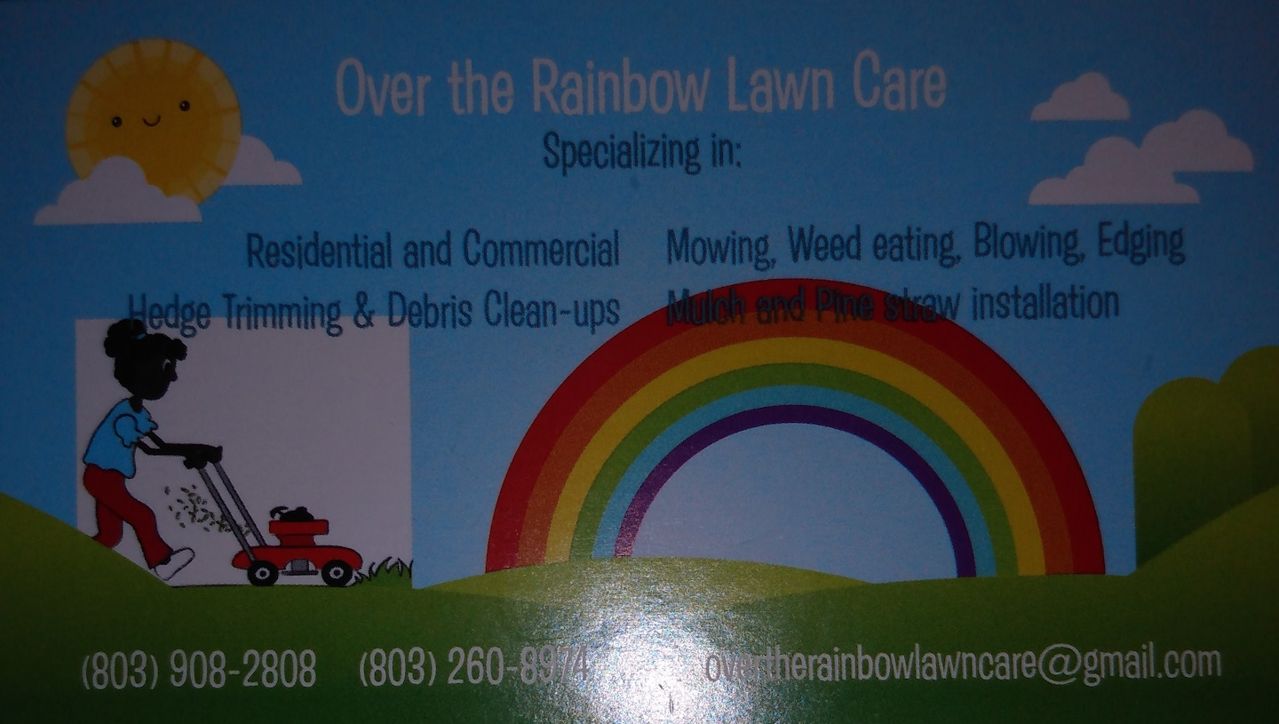 Over the rainbow lawn care