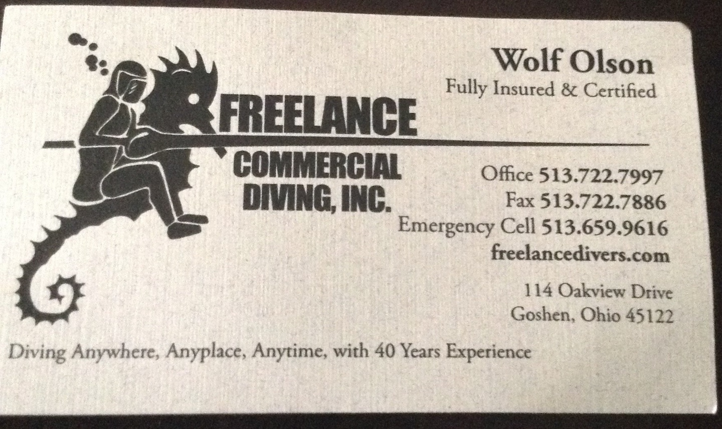 Freelance Commercial Diving Inc