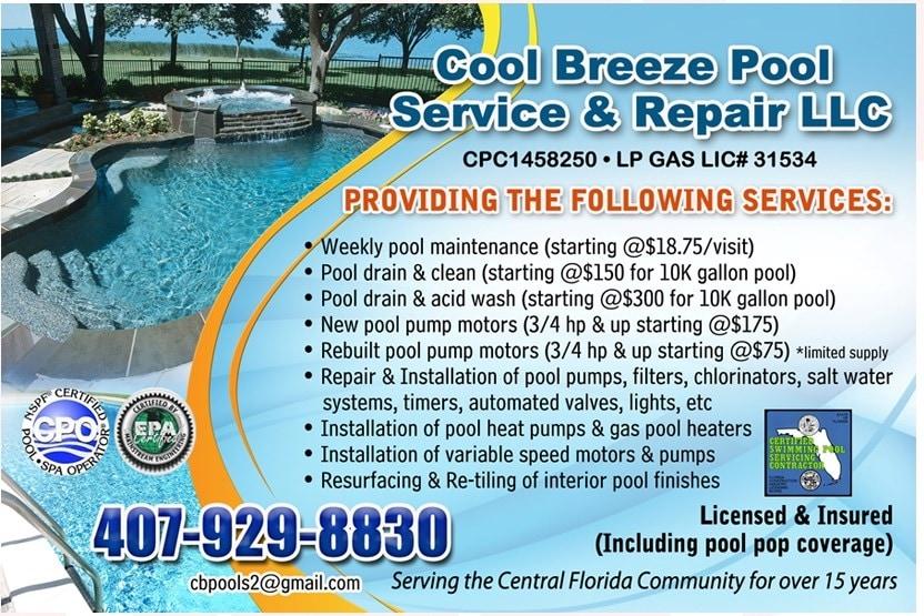 Cool Breeze Pools LLC