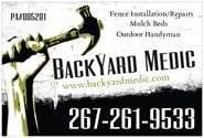 BACKYARD MEDIC logo