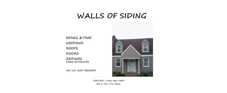 WALLS OF SIDING