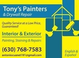 Tony's Painters & Drywall Repairs