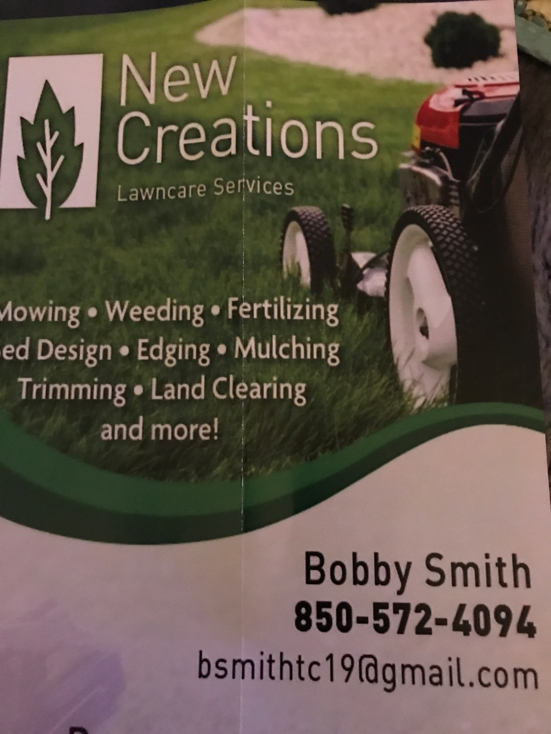 New Creations Lawn Care Services