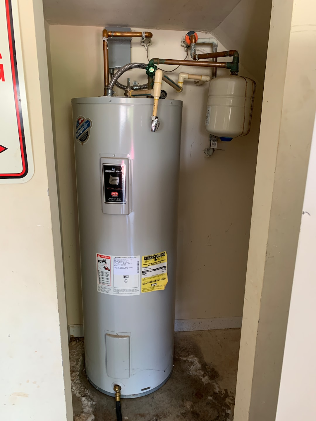 Convert from electric water heater to tankless gas.