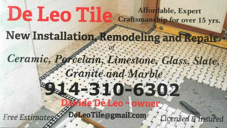 De Leo Tile, Inc. Professional Tile Installers