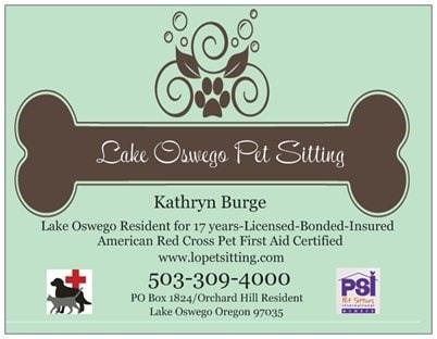 Lake Oswego Pet Sitting