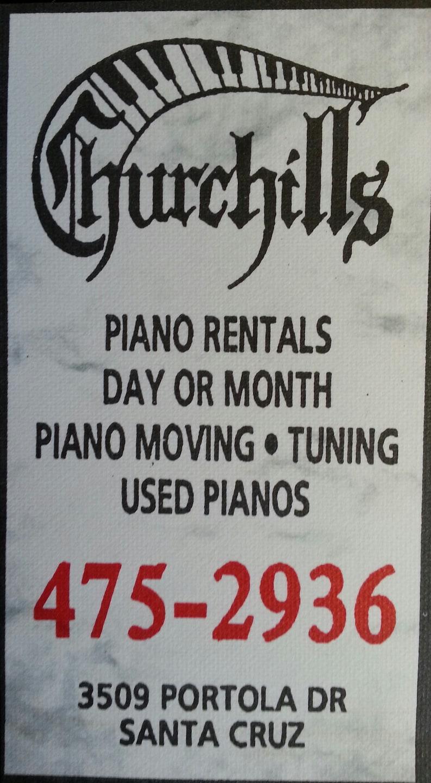 CHURCHILL'S PIANO RENTAL SVC