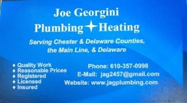 Joe Georgini Plumbing & Heating logo