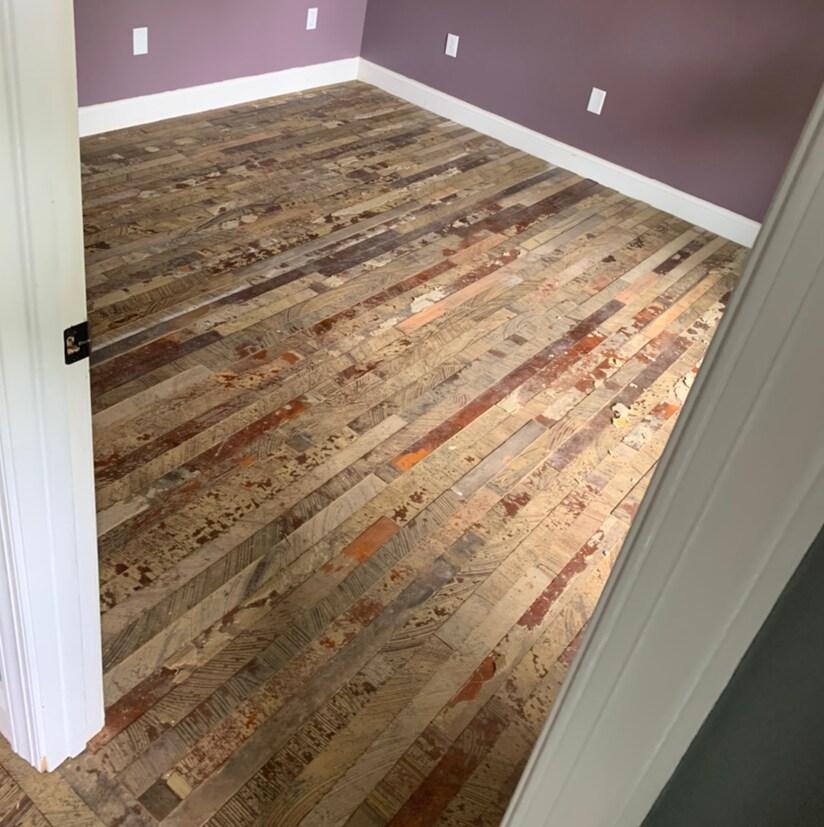 Antique Heart Pine Floor Salvaged