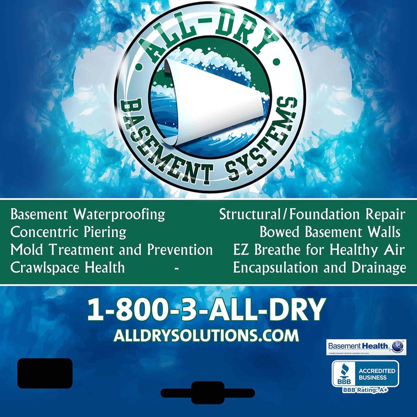 ALL-DRY Basement Waterproofing & Foundation Repair