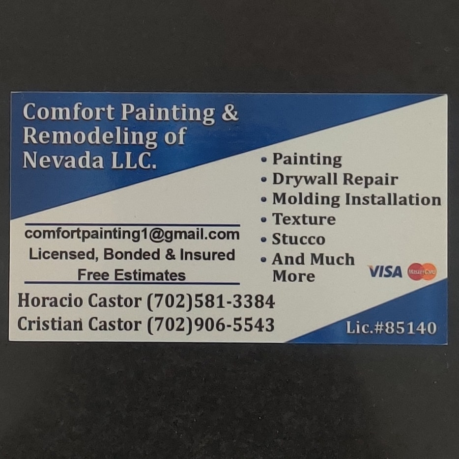 Comfort Painting and Remodeling of Nevada LLC.