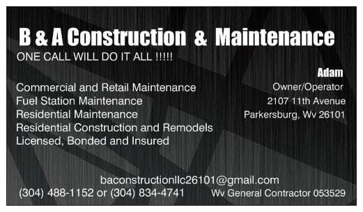 B & A Construction & Maintenance