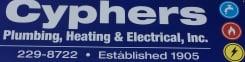 CYPHERS PLUMBING HEATING & ELECTRICAL INC