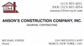 Anson's Construction Company,Inc