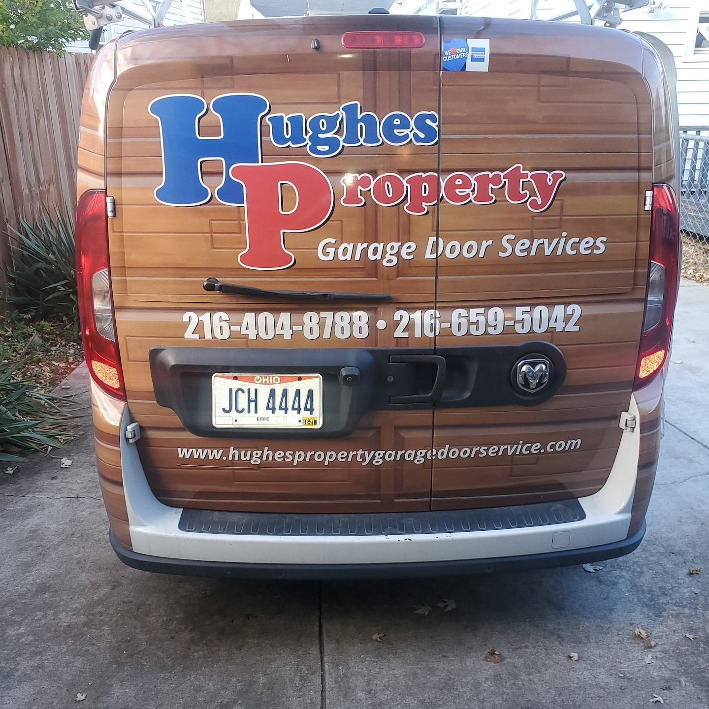Hughes property garage door service