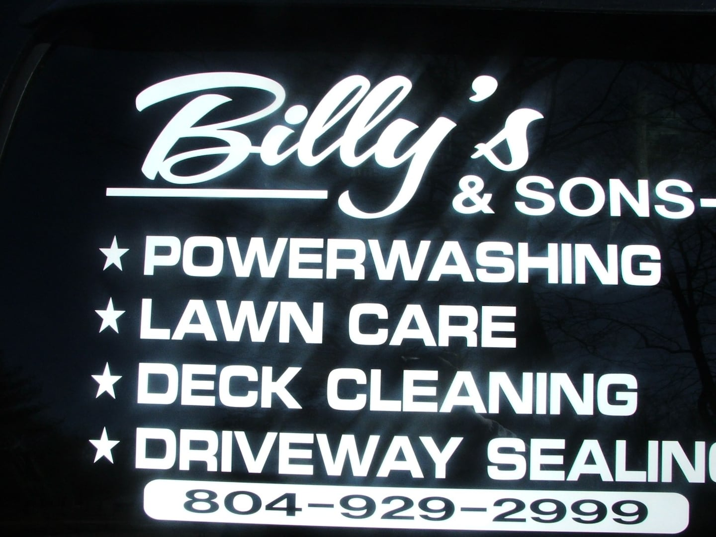 Billy's & Sons power washing