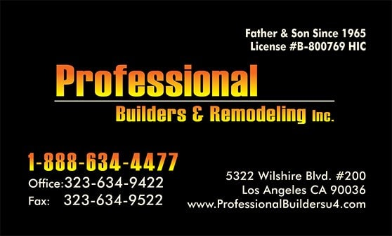 Professional Builders & Remodeling Inc