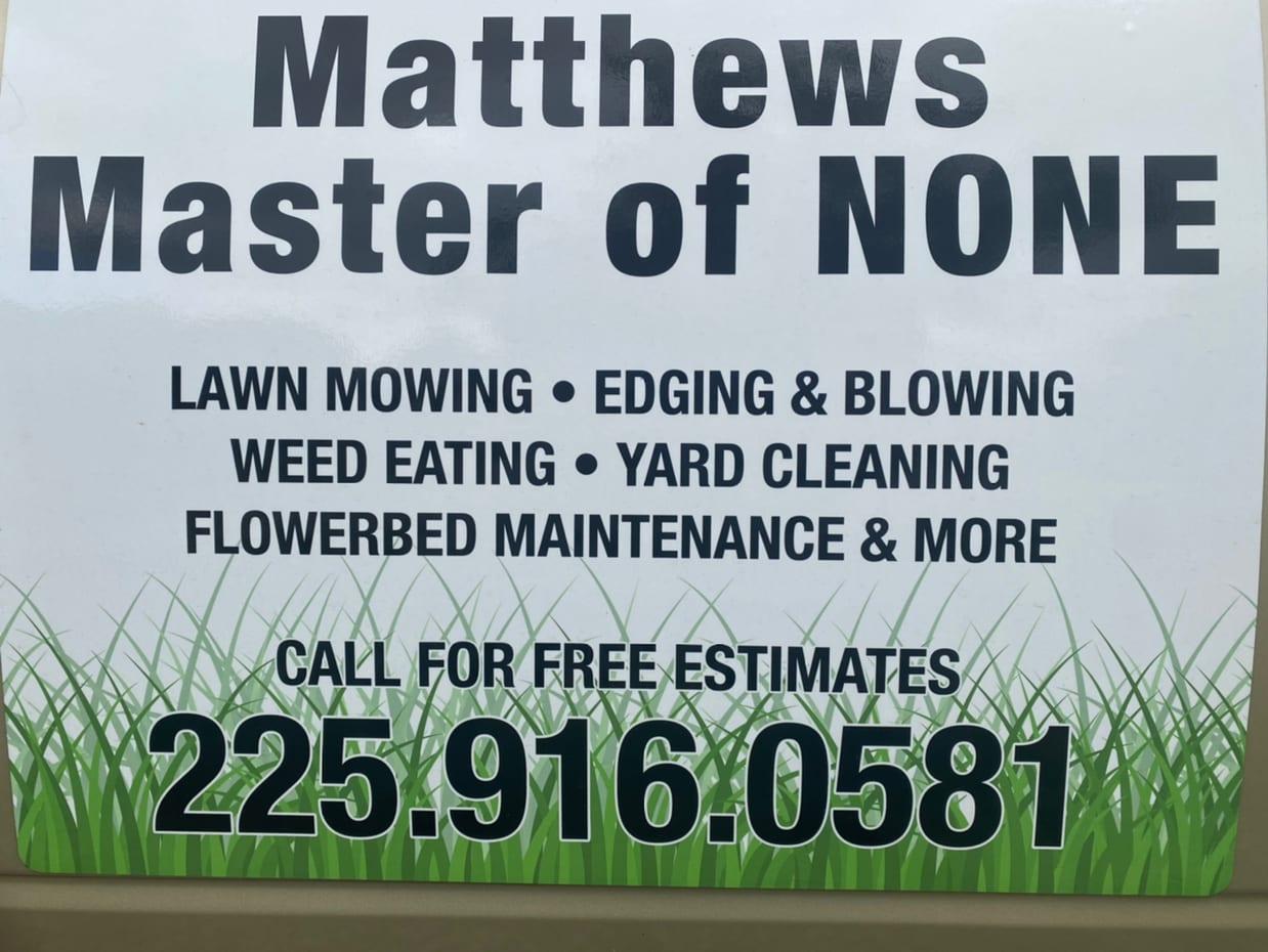 Matthews Master of None