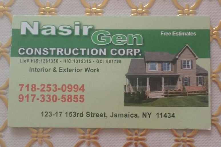 Nasir Gen Construction Corp