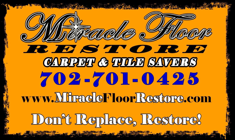 Miracle Floor Restore - Dry Clean for Carpet, Rugs & Tile