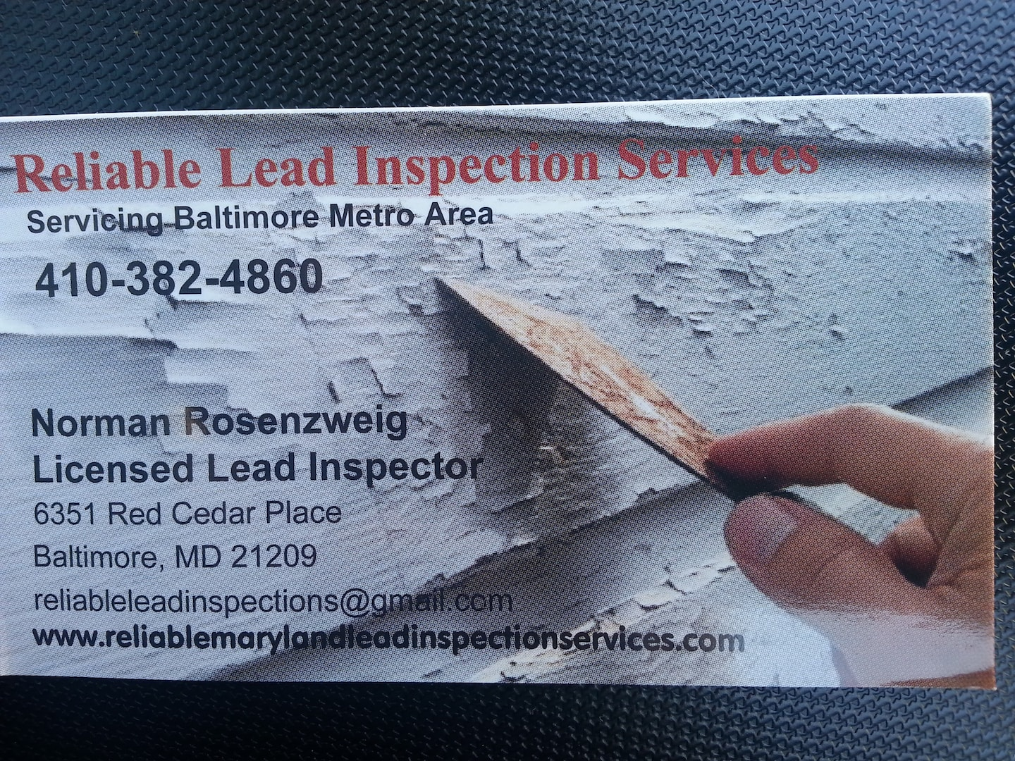Reliable Lead Inspection Services