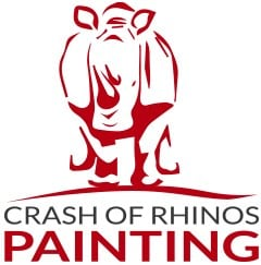 Crash of Rhinos Painting