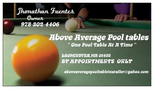 Above Average Pool Table