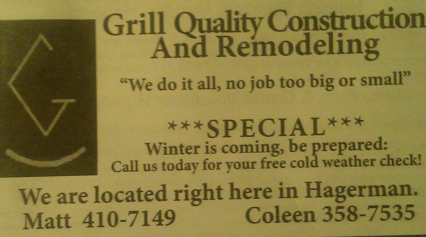Grill Quality Construction and Remodeling