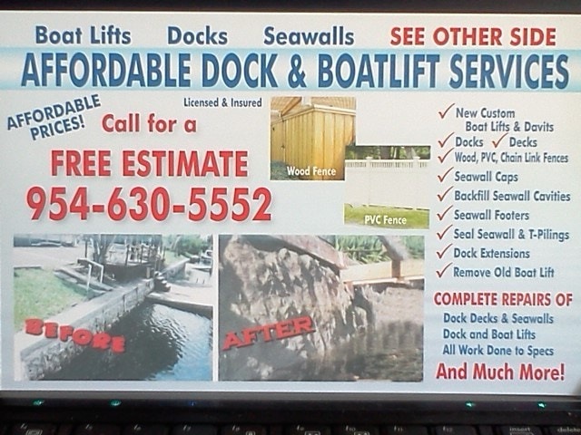 A1A Dock, Boat Lift & Seawall Services