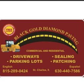 Black Gold Diamond Paving