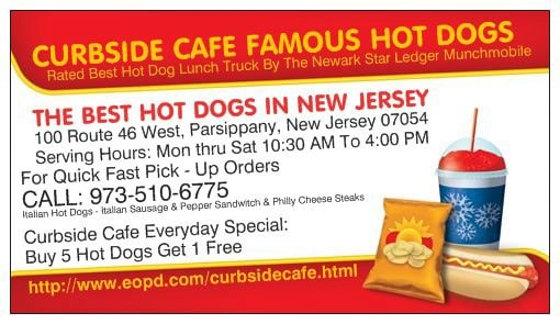 Curbside Cafe Famous Hot Dogs