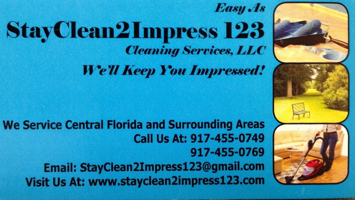 Stayclean2impress, Easy as 1-2-3 LLC.