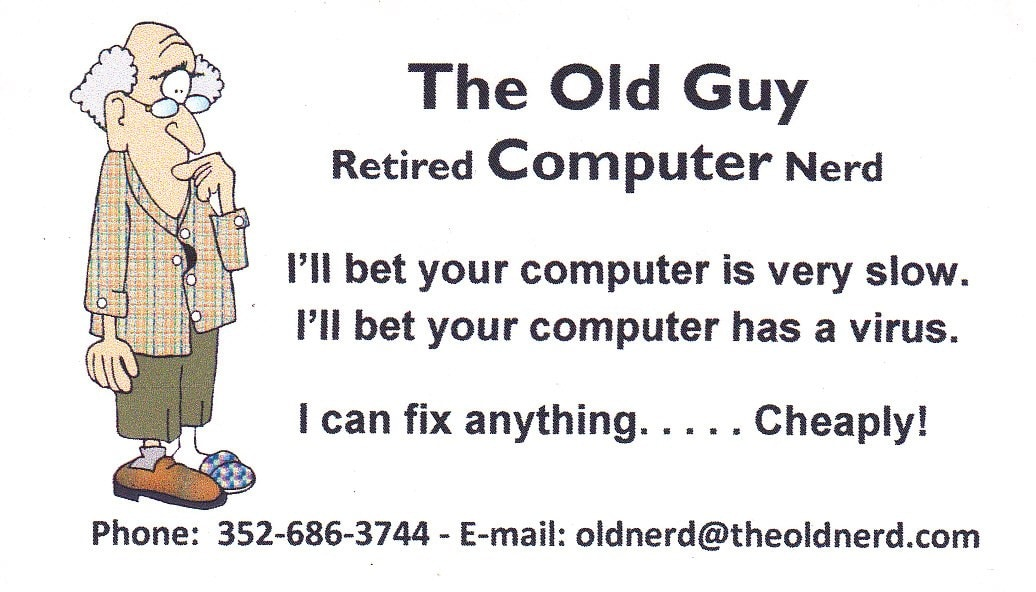 The Old Guy Computer Service Reviews Spring Hill Fl