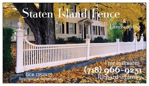Staten Island Fence & Landscaping Inc