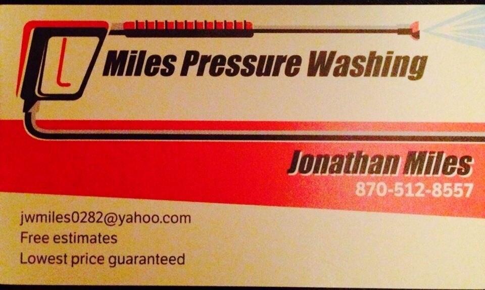 Miles pressure washing