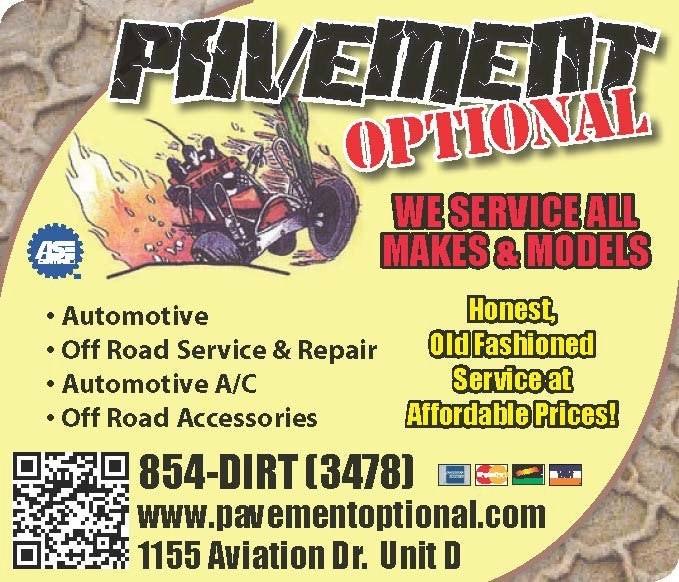 Pavement Optional Automotive Service and Repair