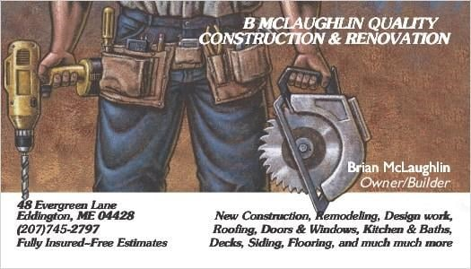 B McLaughlin Quality Construction & Renovation