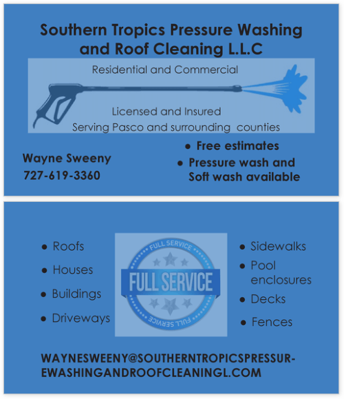 Southern Tropics Pressure Washing and Roof Cleaning LLC