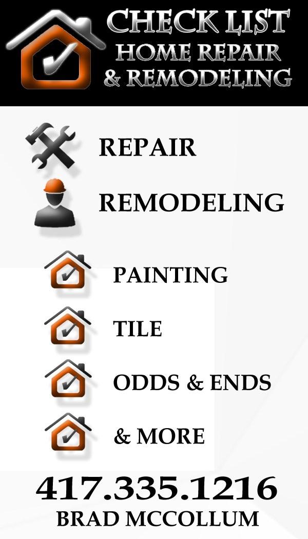 CheckList Home Repair & Remodeling