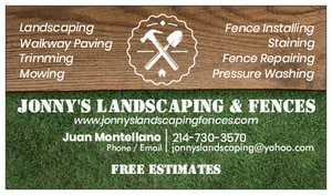 Jonnys Landscaping & Fences